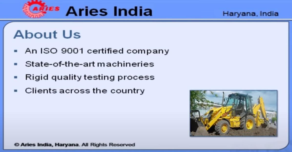 Завод запчастей JCB Aries